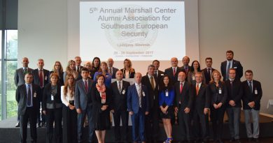 5-та годишна среща на Алумни Асоциацията на Маршал Център за Югоизточна Европа